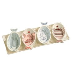 Fish Shaped Appetizer Bowls & Serving Tray