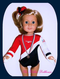 Olympic gymastics outfit for American Girl dolls