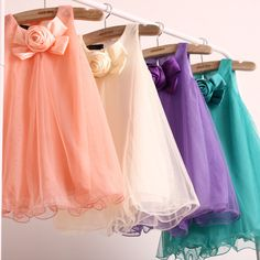 5 pcs/lot 2013 Summer Girls Flower Dresses Children Kids Clothing Fashion Design Promotion AA5617