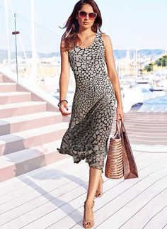 Dresses - $46.99 - Polyester Floral Sleeveless Mid-Calf Casual Dresses (1955141880)