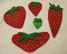 Five Little Strawberries rhyme and flannel board, goes with The Little Mouse, The Red Ripe Strawberry, and the Big Hungry Bear