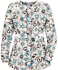 UA Playful Flowers Coffee Bean Print Scrub Jacket