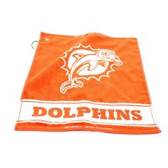New! Miami Dolphins Woven Golf Towel #MiamiDolphins
