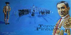 Los Gallos. Miradas de la Fiesta Óleo sobre lienzo 60x30 cm  (320 €)