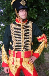 Sort of continuing on from the earlier post about Hussars facing colors here are some pictures of the 'real thing' from the Musée de l'Empe. Vintage Military Uniforms, Military Costumes, Dinard France, German Royal Family, Red Fur, Napoleonic Wars, Make Color, Military History, Some Pictures