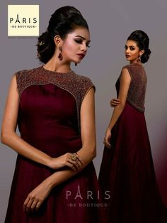 best 12 dress designer indian kurti ideas for 2019 skillofking com 648799890050851814 Stylish Dress Designs, Dress Neck Designs, Indian Designer Outfits, Designer Dresses, Designer Wear, Kerala Engagement Dress, Engagement Gowns, Stylish Dresses, Fashion Dresses