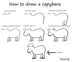 How To Draw a Capybara... you know, in case you need to do that.