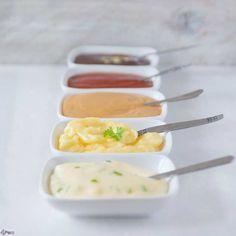 Gourmet recept 5 sausjes - raclette recipe 5 sauces…