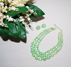 Mint Green 50s Jewelry by CheekyVintageCloset on Etsy, $16.50