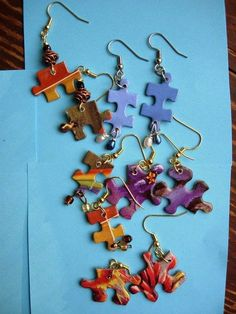 . . . . . How to Recycle: Recycled Jigsaw Puzzle Pieces                                                                                                                                                                                 More