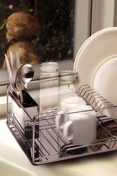 Stainless Steel Dish Drainer Set - Set of 3