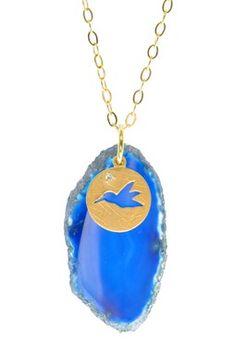 Bird Crystal Agate Necklace