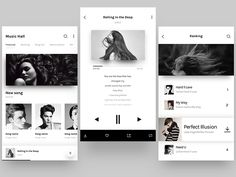 Music APP interface - via @designhuntapp