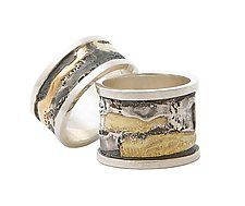 Spool rings. Gold & Silver, by Sonia Beauchesne