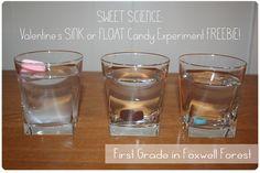 Sweet Science: Valentine's Sink or Float FREEBIE