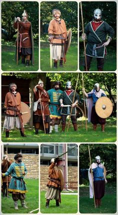 WARRIORS Viking reenactment by SONS OF MIDGARD one part of our members. First official trip at Musée de l'histoire du fer - Jarville, France