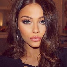 49 Chocoloate Brown Hair Color Ideas for Brunettes #Outfit https://seasonoutfit.com/2018/01/30/49-chocoloate-brown-hair-color-ideas-brunettes/