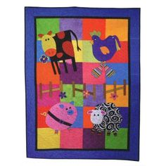 Funky Farmyard Patchwork Pattern for quilt