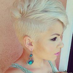 Pixie blonde haircut