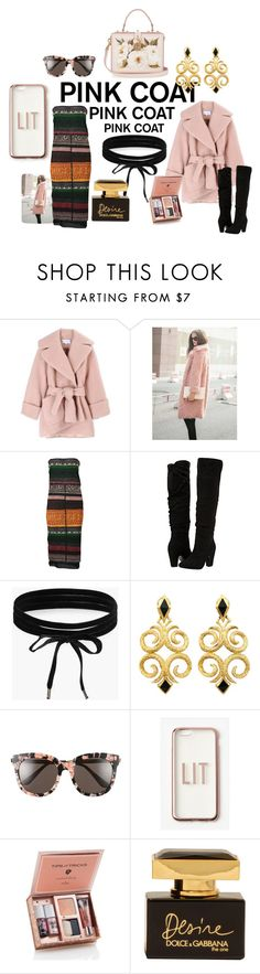 """Currently pink"" by cschorr-1 on Polyvore featuring Carven, WithChic, Jean-Paul Gaultier, Dorothy Perkins, Boohoo, Gentle Monster, Missguided and Dolce&Gabbana"