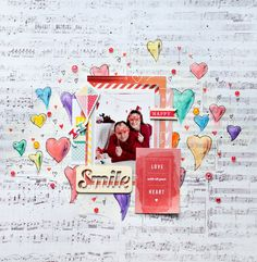 Hi everyone, Tatiana Yemelyanenko is here and I would like to share my new tutorial using Gelatos�. I created layout with photo from last year Valentine's day. So I decided to use as a background watercolor hearts. Cover the middle of patterned paper with thin layer of Gesso. Wait until...