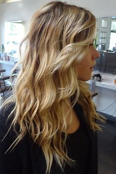 Perfect festival hair - for an easy version pleat hair and knot. Undo it in the morning and run some product through your tousled hair.