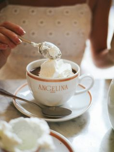 Luxembourg Gardens Angelina, much quieter than the one near Le Louvre! Same deliciously thick hot chocolates.