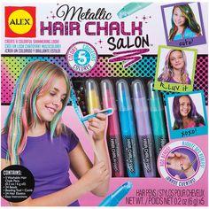 Alex Toys Metallic (Grey) Hair Chalk Salon Kit-