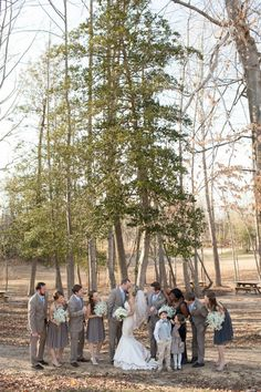 Bridal party outdoor wedding photography
