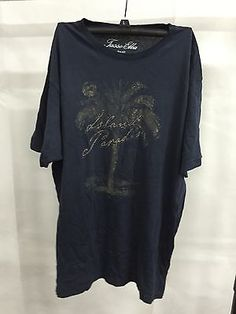Tasso Elba Blue Island Paradise Simple Shirt T-Shirt, Size Small