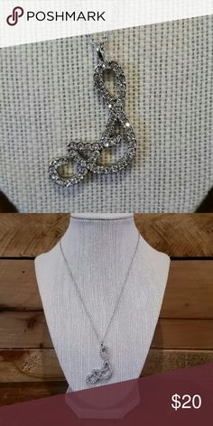 """NWOT silver rhinestone """"S"""" initial necklace New without tags silver rhinestone """"S"""" initial necklace.  16"""" in length. Really pretty and super shiny. Jewelry Necklaces"""