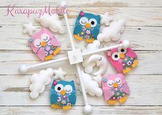 Baby mobile, nursery mobile, owl mobile von KarapuzMobile auf DaWanda.com