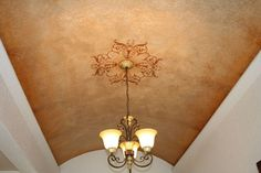 Ceiling faux finishes mural idea by Norma Ruffinelli Ceiling Murals, Mural Wall Art, Ceiling Decor, Ceiling Lights, Barrel Ceiling, Faux Painting, Paint Effects, Stencils, Ceilings