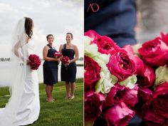fuchsia and navy wedding colors