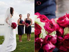 fuchsia and navy wedding colors