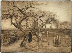 Vincent van Gogh Winter Garden Drawing