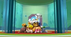 Los Paw Patrol, Paw Patrol Pups, Nick Jr, Nickelodeon, Dinosaur Stuffed Animal, Play, Children, Animals, Dog