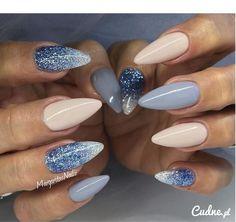 Cudowne paznokcie- nude & blue