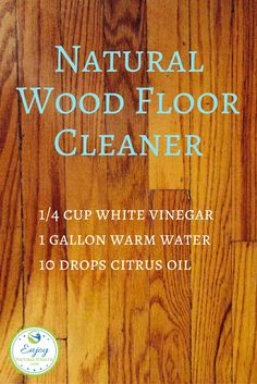 I use and LOVE this natural wood floor cleaner instead of toxic (and expensive) commercial cleaners. There are more recipes for natural cleaning products when you click on the image :)