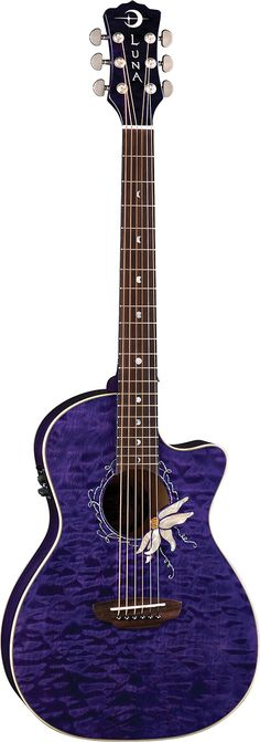 Luna Guitars - Passionflower - OK, I secretly want to own a purple guitar some day.  Something that screams peace and love and joy and reminds me to drop the gender constructs that society imposes and just enjoy a beautiful guitar like this one.
