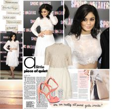 """""""Vanessa Hudgens """"Spring Breakers"""" photo call in Madrid"""" by megi32 ❤ liked on Polyvore"""