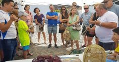"""ALMUÑÉCAR.Los participantes en esta 'ruta"""" visitaron el Mercado Municipal para conocer los productos frescos que allí se ofrecen y la elaboración artesanal de las famosas"""
