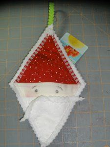 Santa Surprise Ornament and Gift Holder | FaveQuilts.com