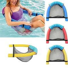 Dual Swimming Noodle Pool Floating Chair Detachable Bed