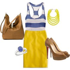 I love the dress and necklace!