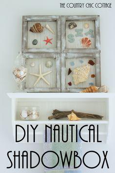 Beach Themed Shadowbox Art A Fun Nautical Themed Art For Your Home