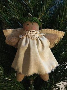 Ange en Bois 2er Set Ange de Noël