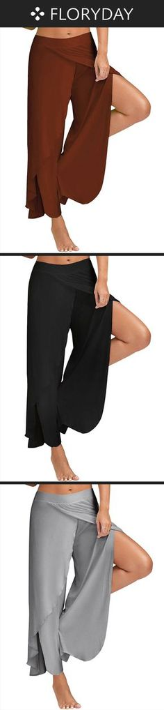 Loose Polyester Pants Pants & Leggings, loose pants, fashion pants, spring summer in 2018, stylish pants.