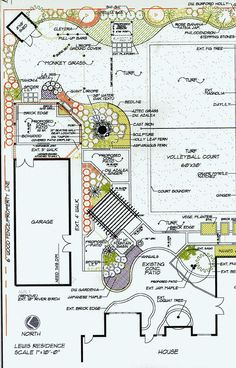 Landscape plans landscape design software by idea spectrum corner shed minus the volleyball court malvernweather Images
