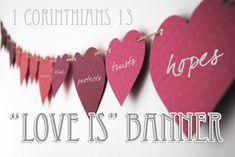 "1 Corinthians 13 ""Love Is"" Banner"